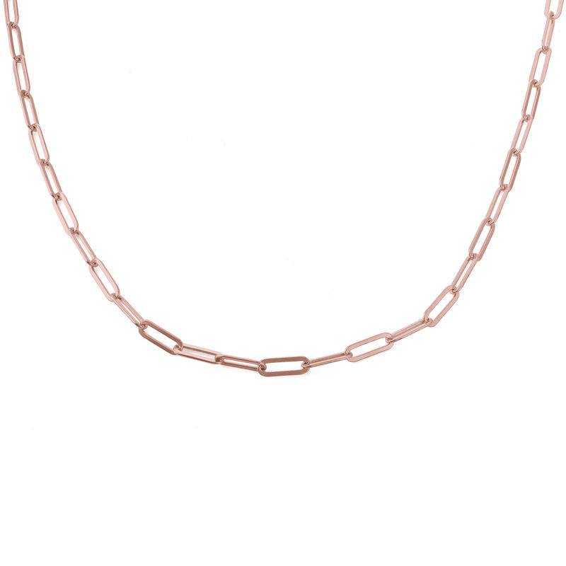Chain Link Necklace in 18ct Rose Gold Plating