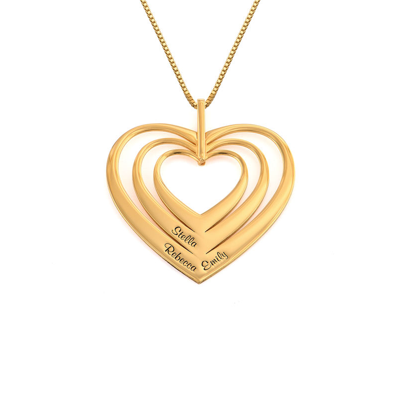 Family Hearts necklace in 18k Gold Plating - Mini design