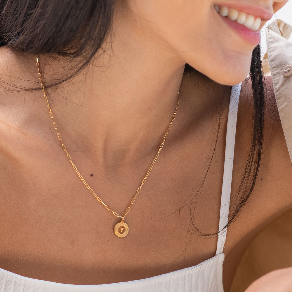 Odeion Initial Necklace in 18ct Gold Plating - 1