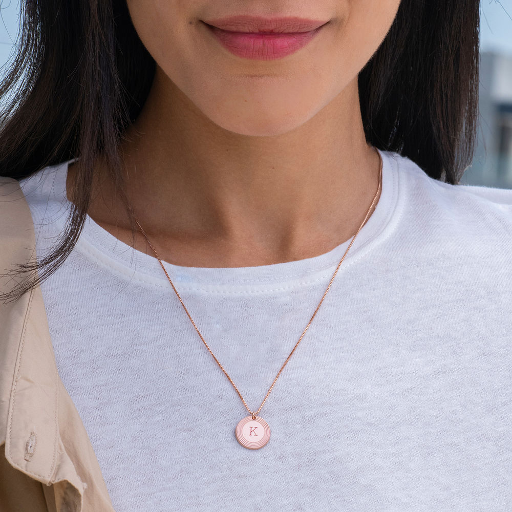 Fontana Initial Necklace in 18ct Rose Gold Plating - 1