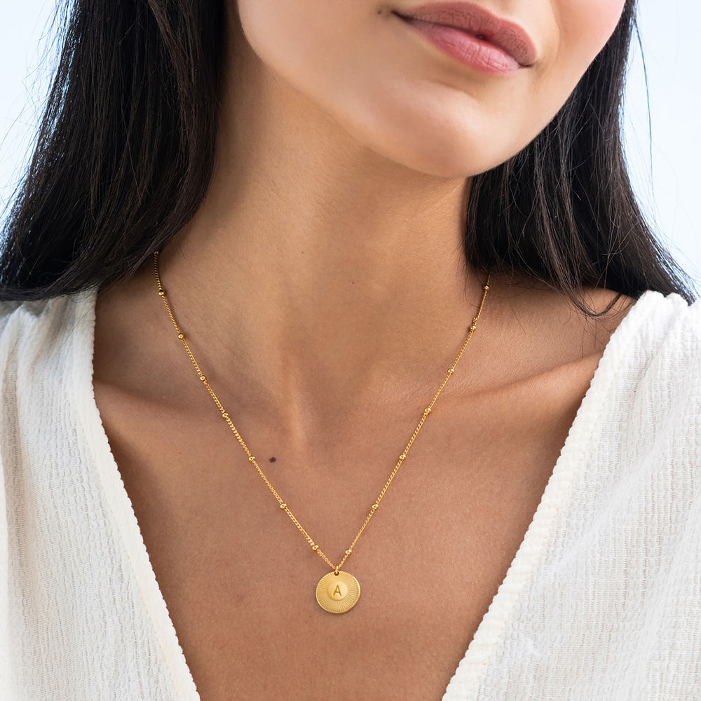 Rayos Initial Necklace in 18ct Gold Plating - 1