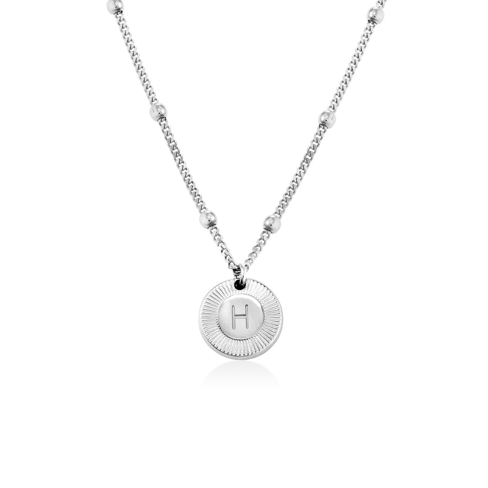 Mini Rayos Initial Necklace in Sterling Silver