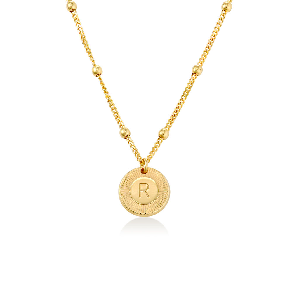Mini Rayos Initial Necklace in 18ct Gold Plating
