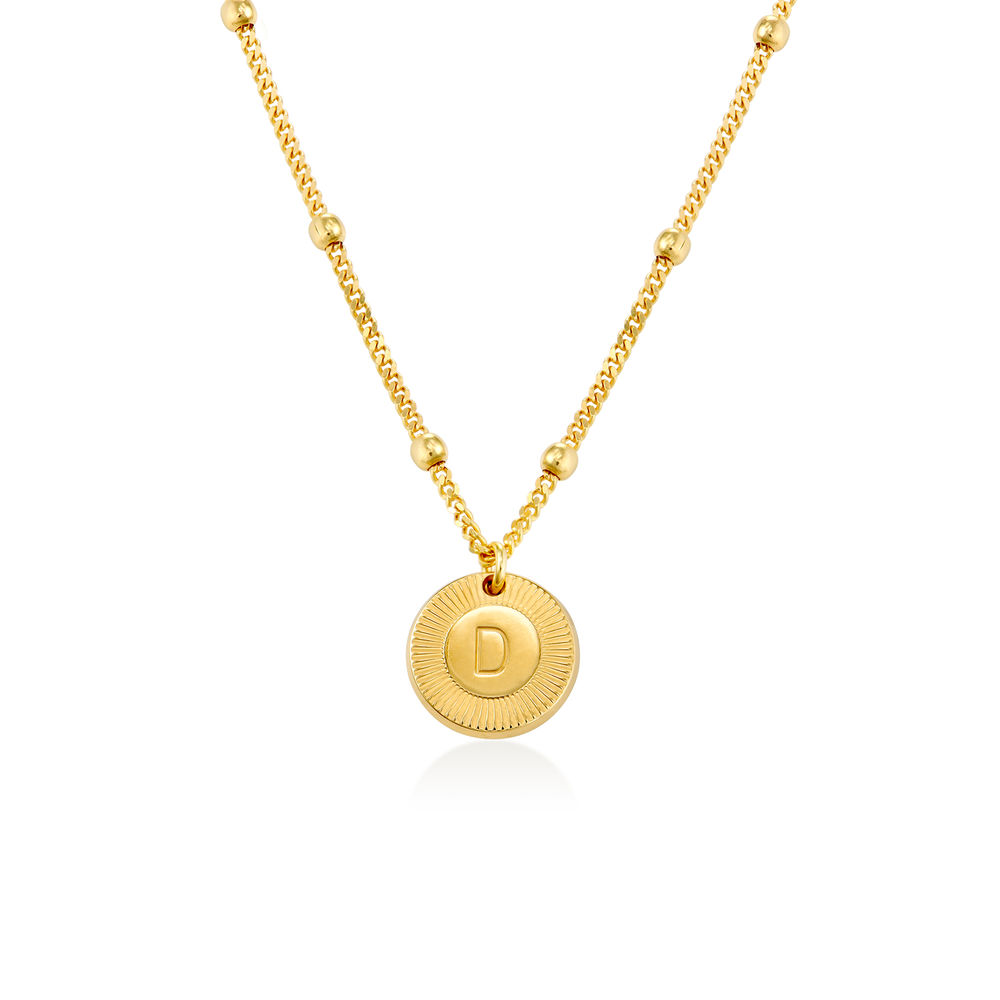 Mini Rayos Initial Necklace in Vermeil