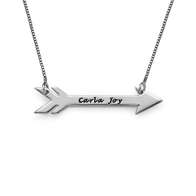 Personalised Arrow Necklace in Silver