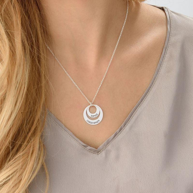 Discs & Dog Tag Necklace Set - 3