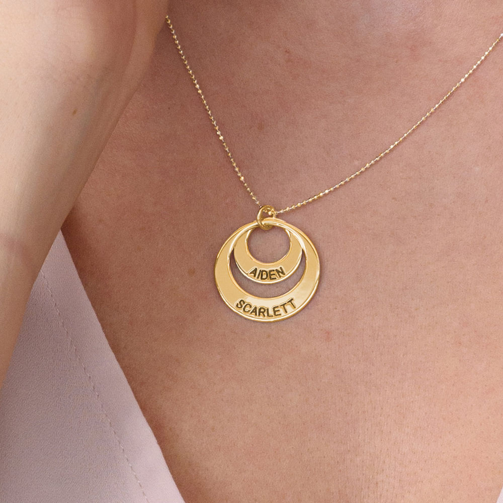 Jewellery for Mums - Disc Necklace in 10ct Gold - 4