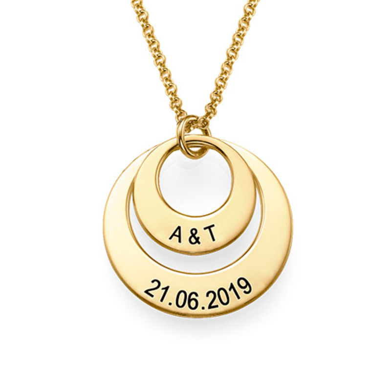 Jewelry for Moms - Disc Necklace in 18ct Gold Vermeil