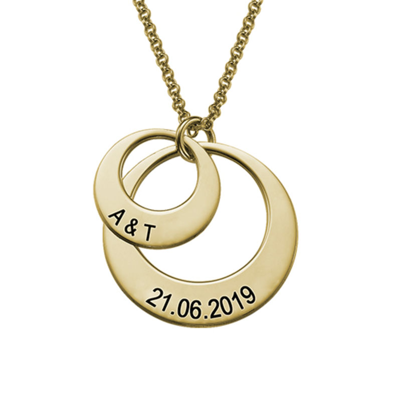 Jewelry for Moms - Disc Necklace in 18ct Gold Vermeil - 1