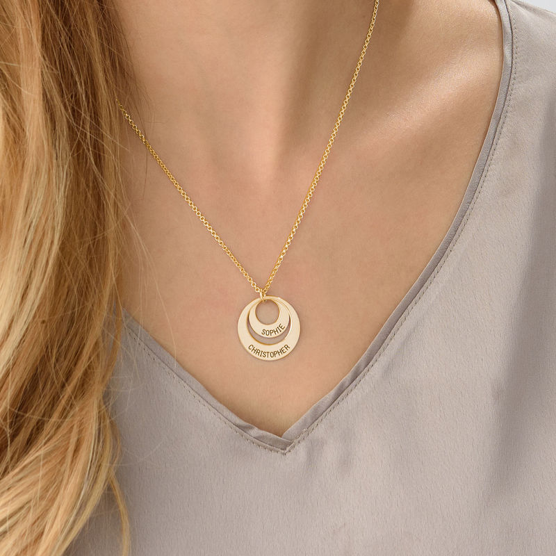 Jewelry for Moms - Disc Necklace in 18ct Gold Vermeil - 3