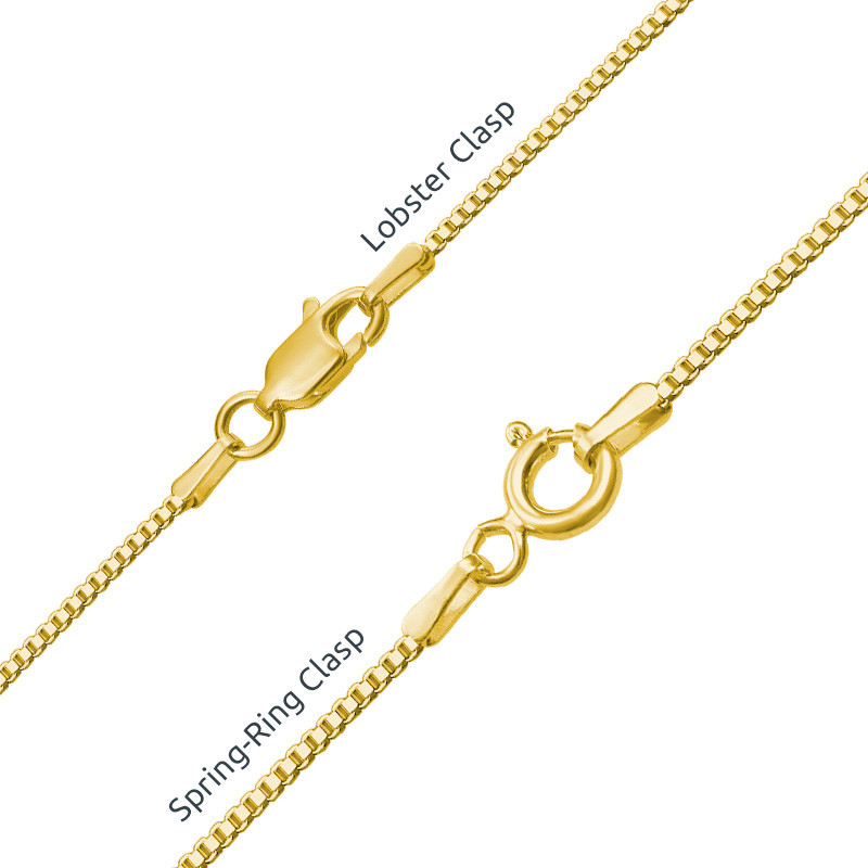 Personalised Baby Feet Necklace with Gold Plating - 3