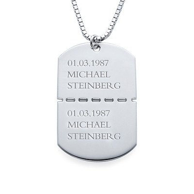Sterling Silver Dog Tags for Men - 1