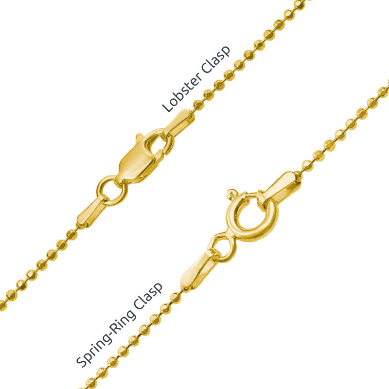 Engraved Baby Feet Necklace in 18ct Gold Plating - 2