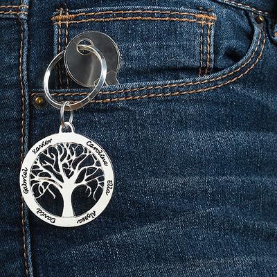 Family Tree Keyring & Necklace Set - 4