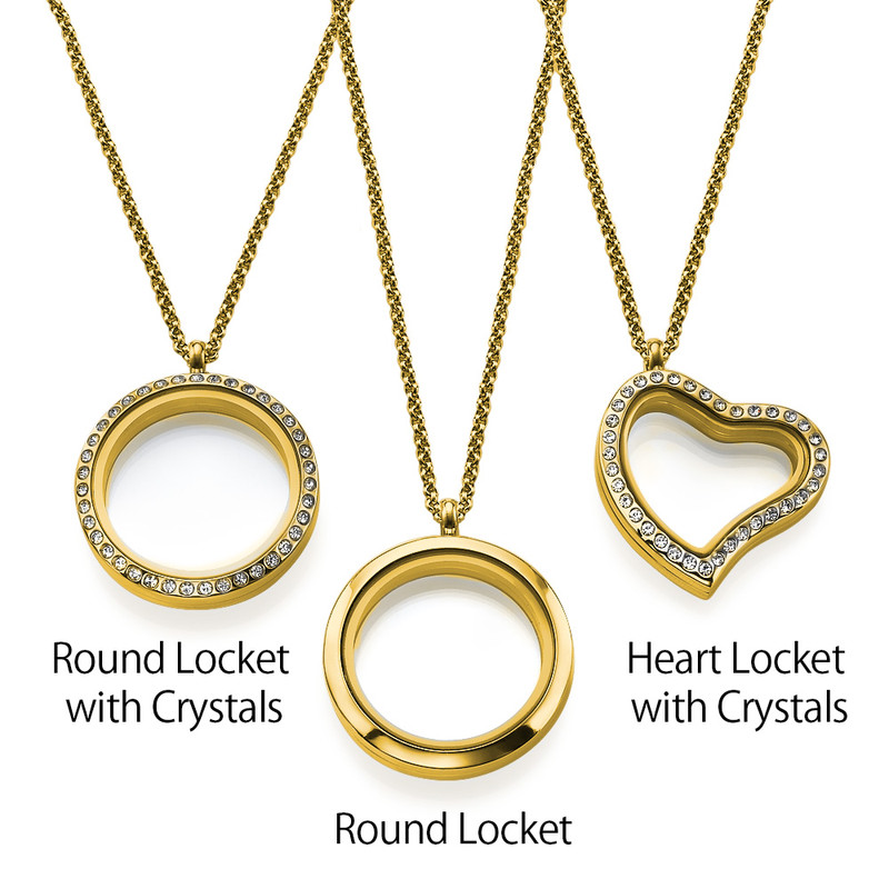 "Engraved Floating Charms Locket - ""For Mum"" with Gold Plating - 3"