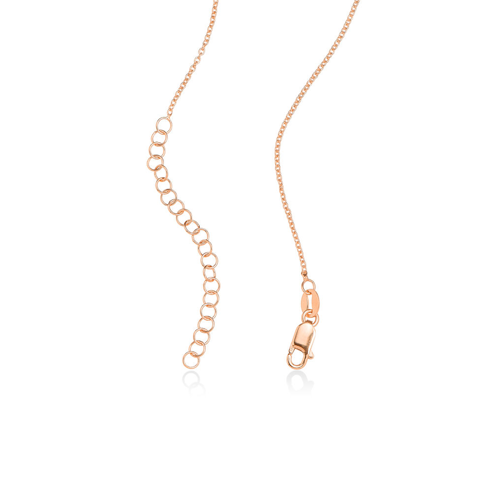 Engraved Couple Birthstone Necklace - Rose Gold Plated - 4