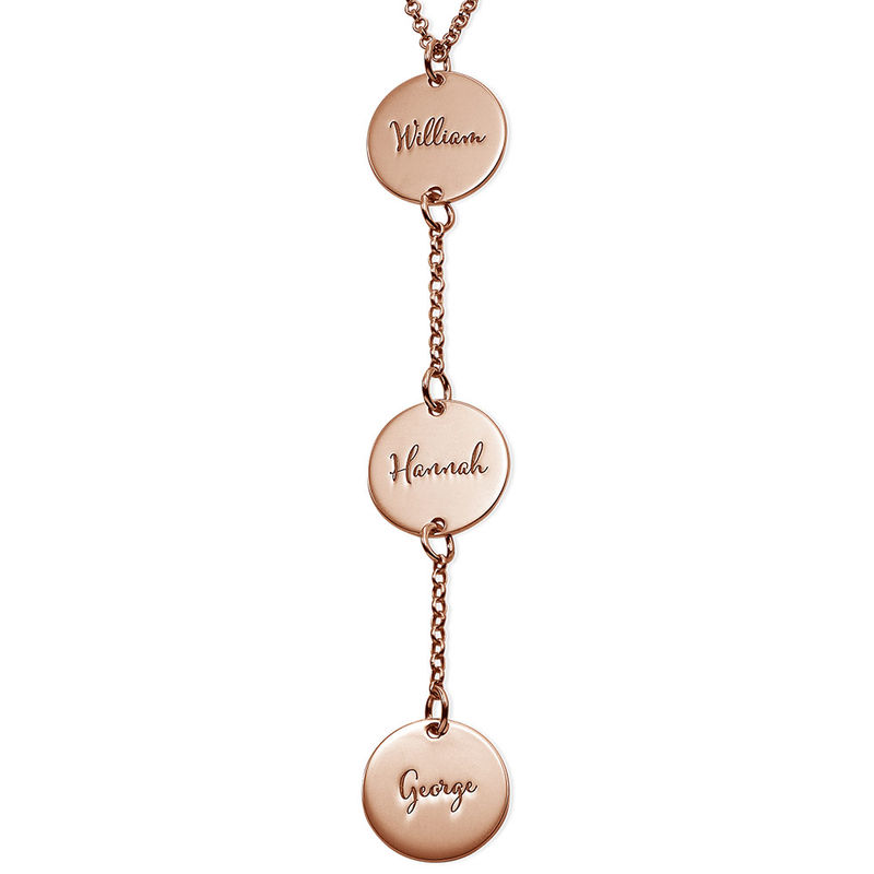 Personalised Y Necklace in Rose Gold Plating