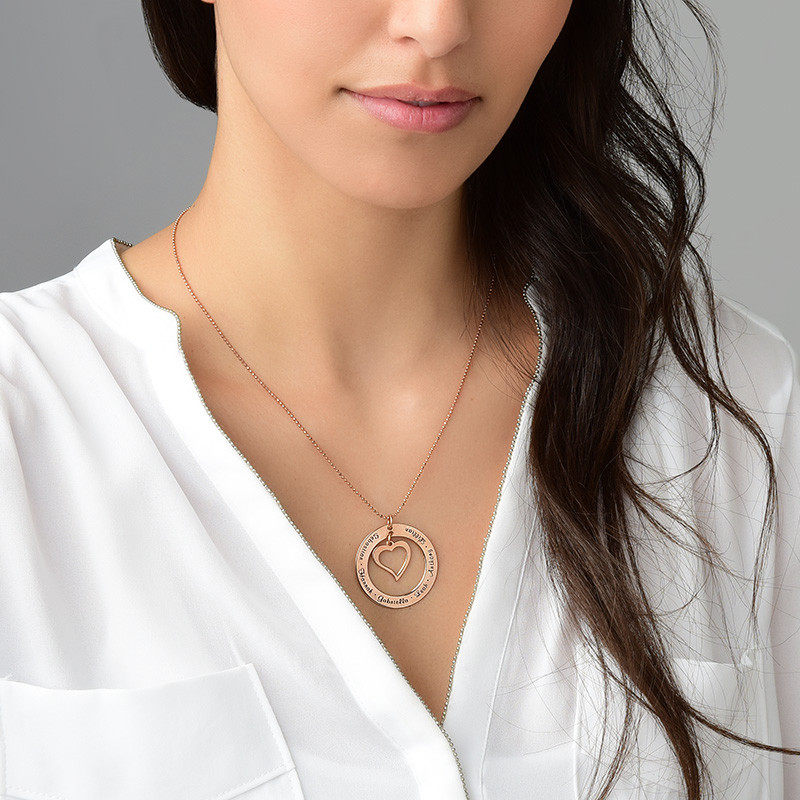 Love My Family Necklace - Rose Gold Plated - 1