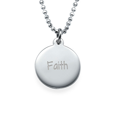 Faith Inspirational Necklace Silver