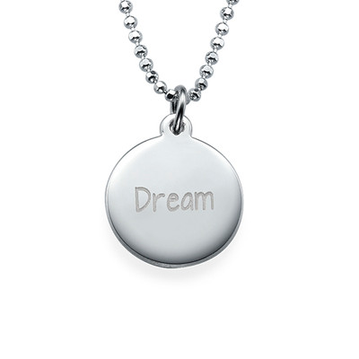"Inspirational ""Dream"" Necklace Silver"