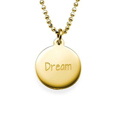 """Inspirational """"Dream"""" Necklace GP"""