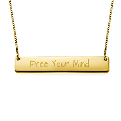 """Inspirational Gifts - """"Free Your Mind"""" Bar Necklace"""