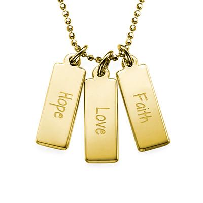 Hope Love Faith Inspirational Bar Necklace