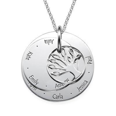 Personalised Mum Jewellery - Family Tree Necklace - 1