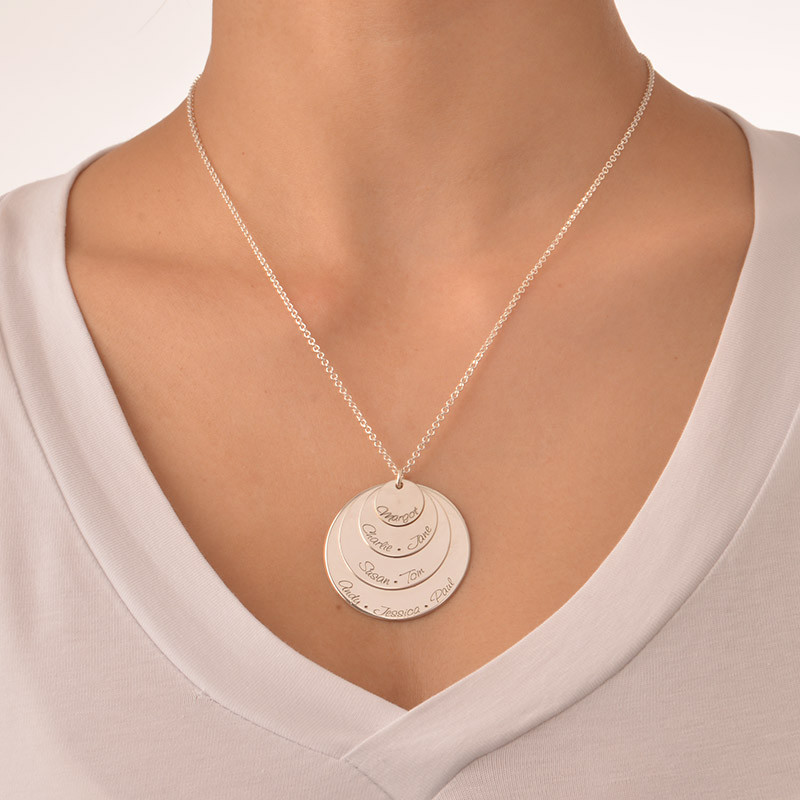 Engraved Mum Necklace with Four Discs - 2