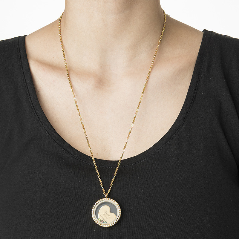 A Mother's Love Floating Locket - Gold Plated - 2