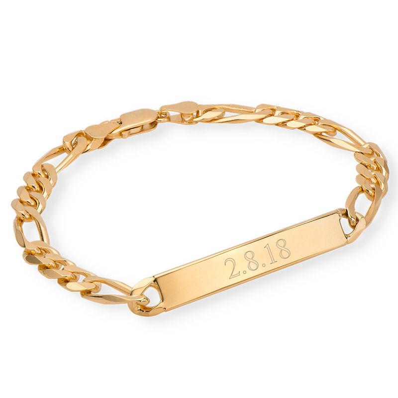 ID Bracelet for Men With Gold Plating - 1