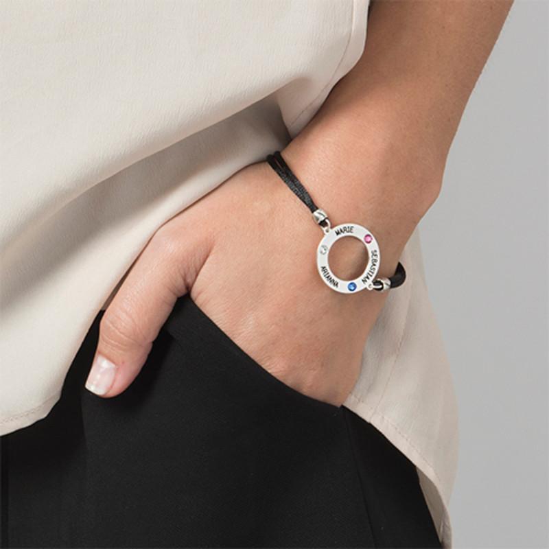 Personalised Circle Bracelet with Birthstones - 3