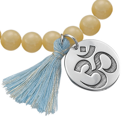 Yoga Jewellery - Engraved Om Bead Bracelet - 1