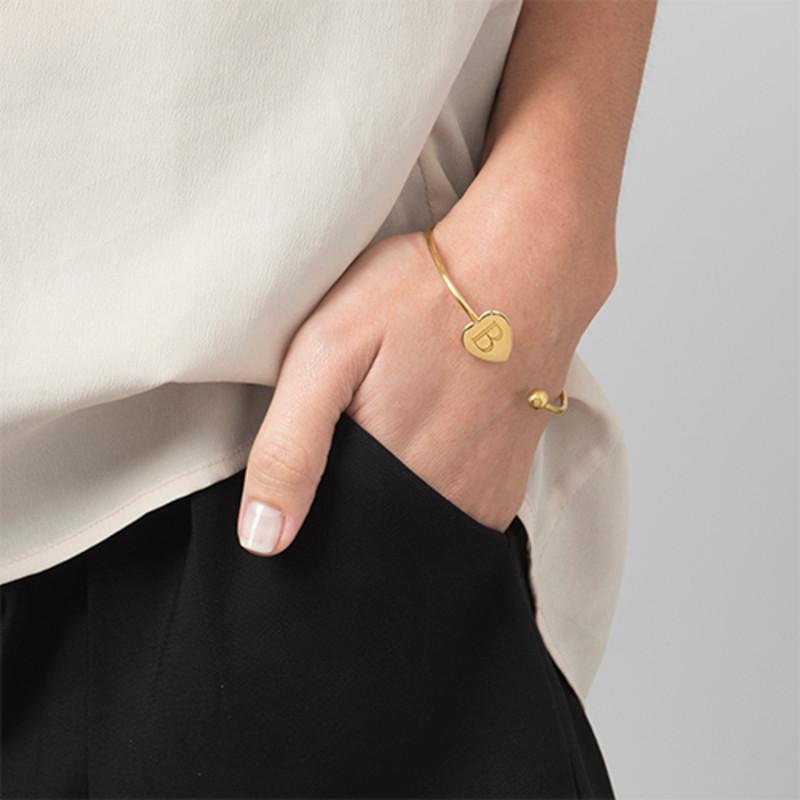 Personalised Bangle Bracelet in Gold Plating - Adjustable - 2