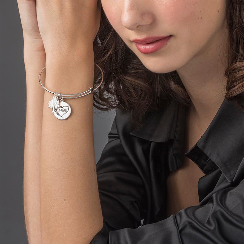 Mum Charm Bangle Bracelet - 2