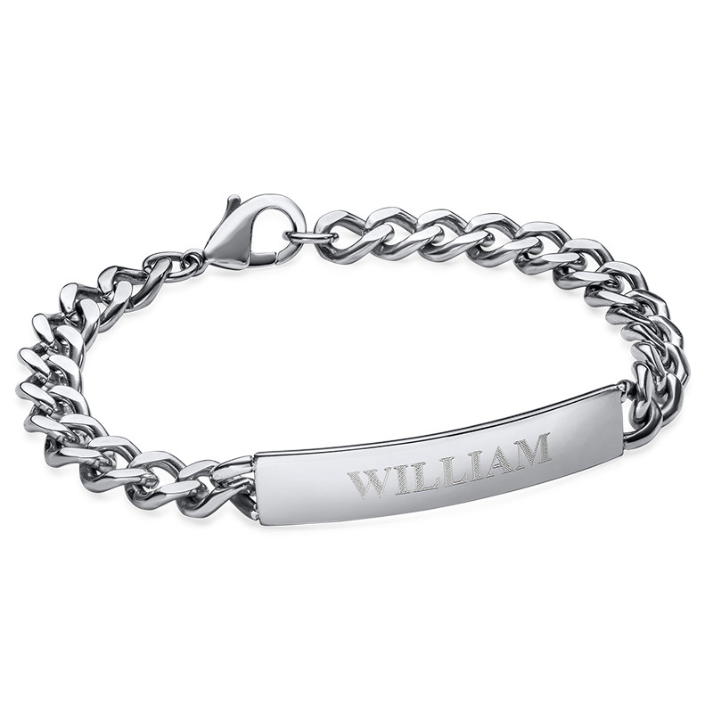 ID Bracelet for Men in Stainless Steel
