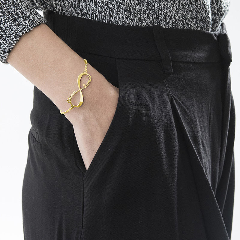 Infinity Bracelet with Names - 18ct Gold Plated - 5
