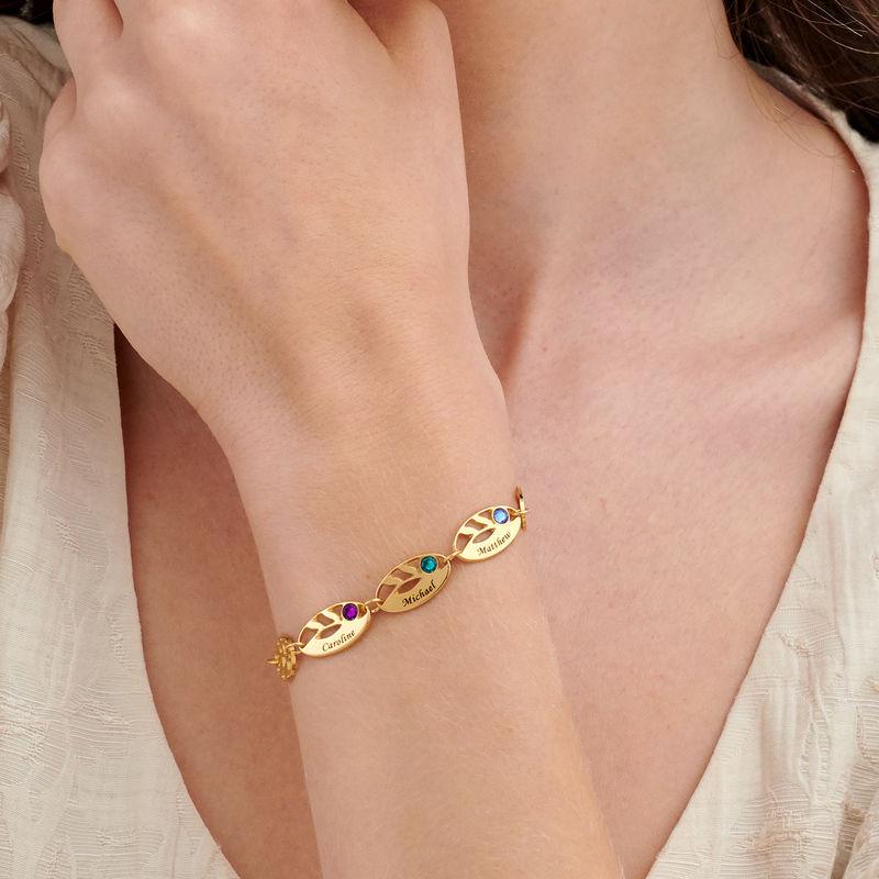 Mother Leaf Bracelet with Engraving in Gold Plating - 2
