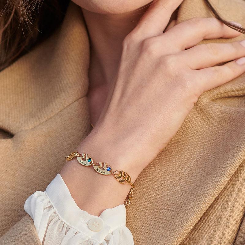 Mother Leaf Bracelet with Engraving in Gold Plating - 3