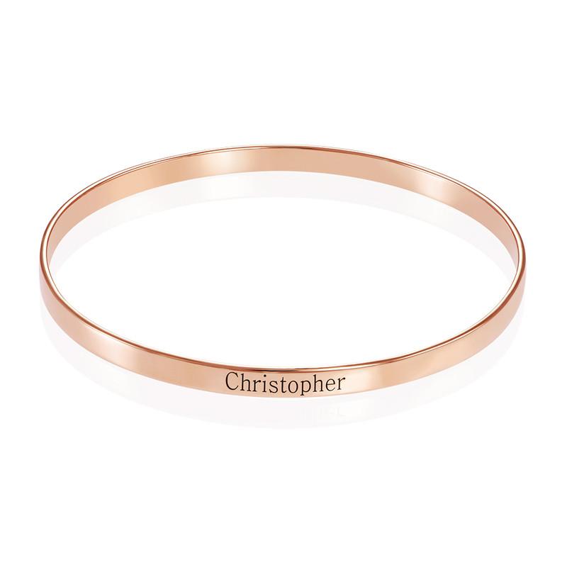 18ct Rose Gold Plated Engraved Infinite Love Bracelet