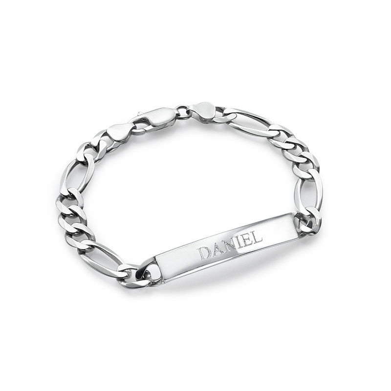 Sterling Silver ID Bracelets set for Men and Women - 2