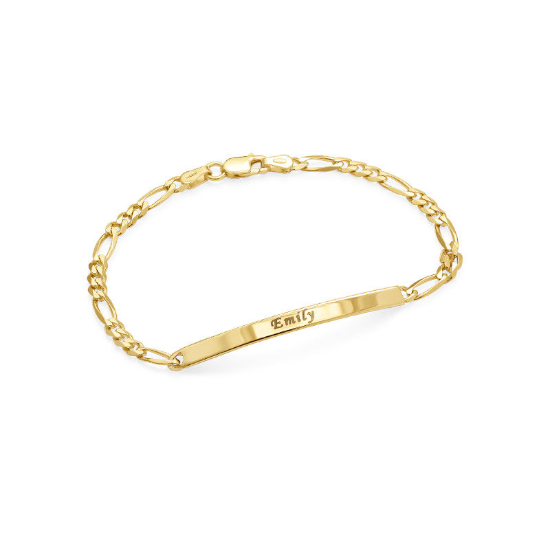 ID Bracelets Set for Men and Women with Gold Plating - 1
