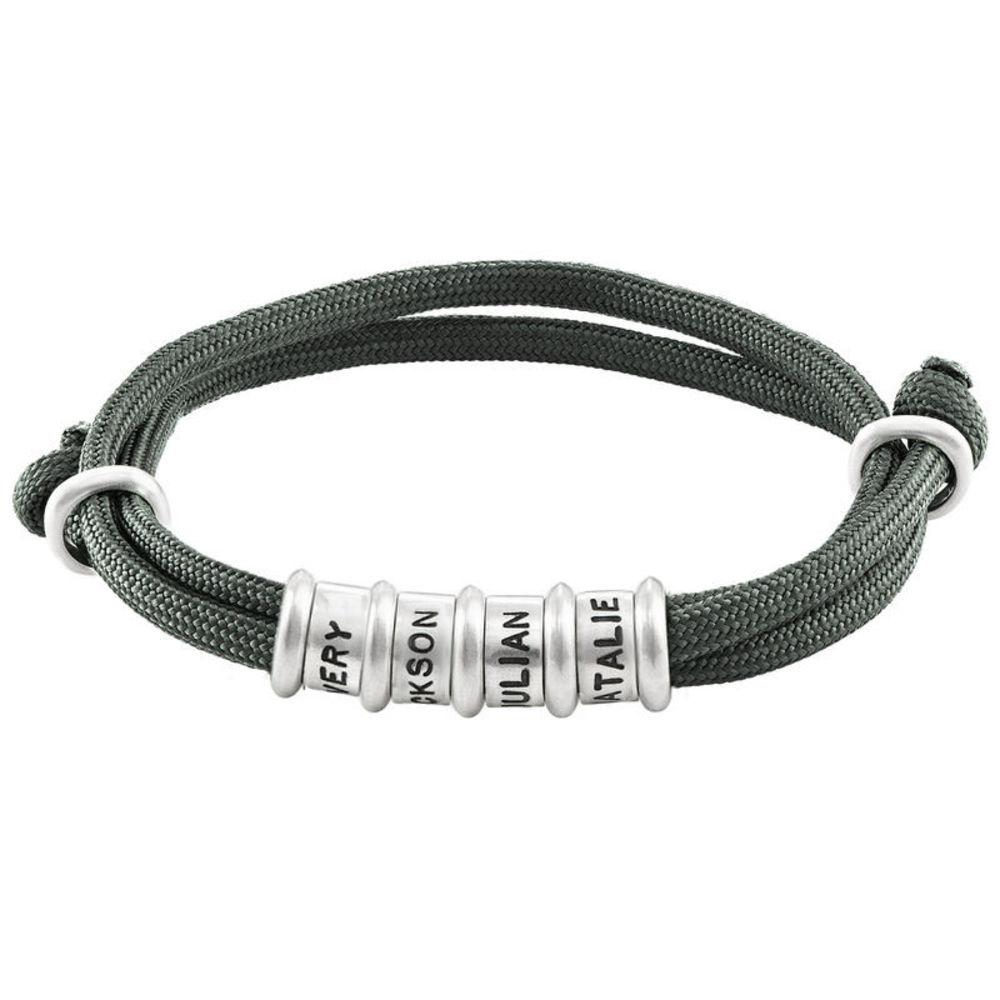 Men Cord Bracelet with Custom Beads - 1