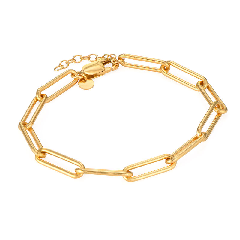 Chain Link Bracelet in 18ct Gold Plating