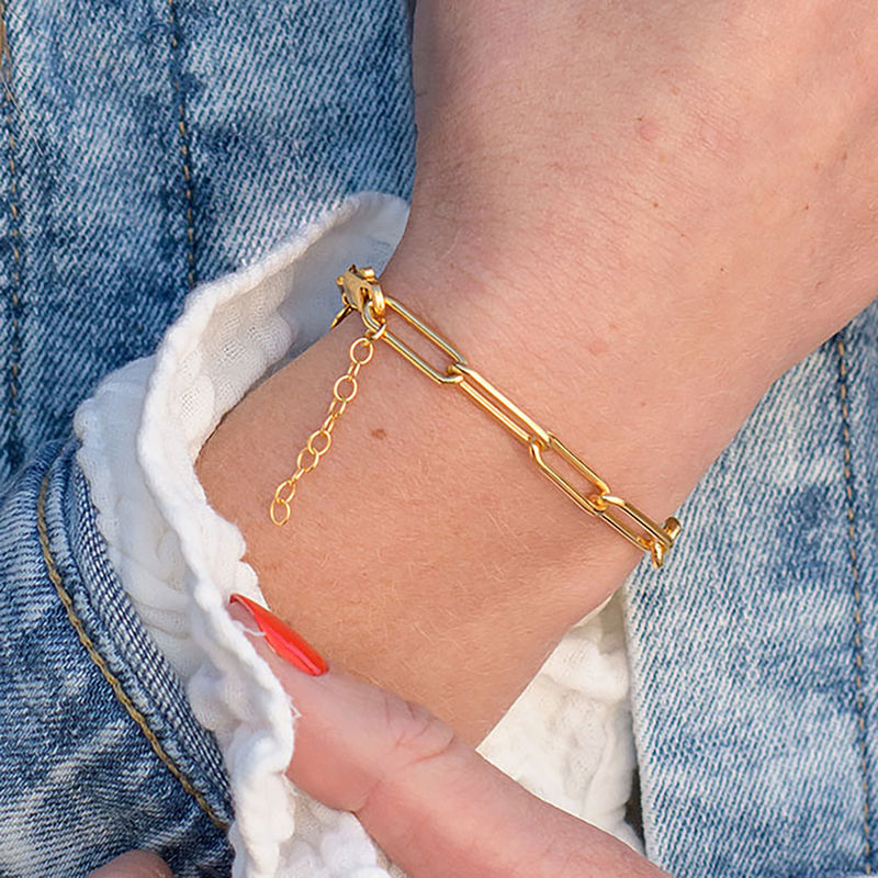 Chain Link Bracelet in 18ct Gold Plating - 2