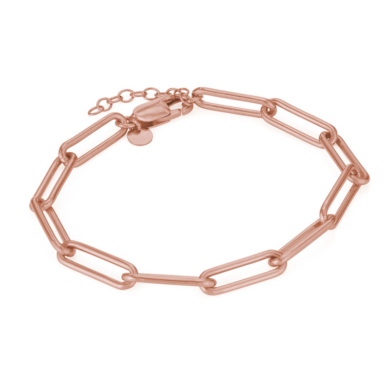 Chain Link Bracelet in 18ct Rose Gold Plating