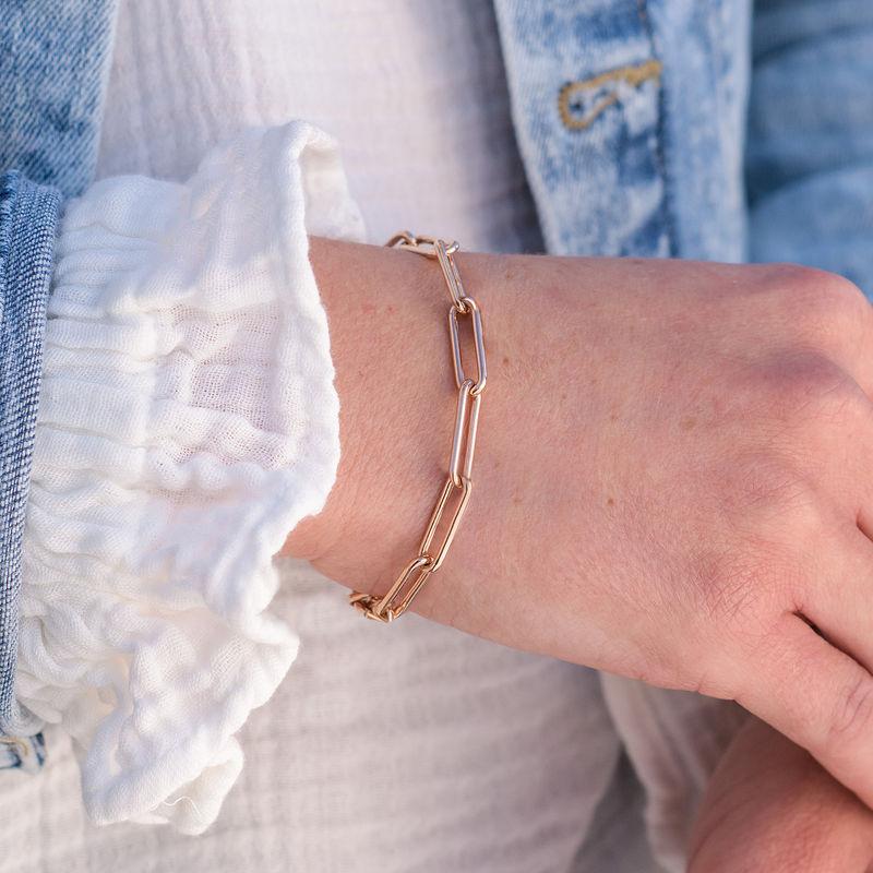Chain Link Bracelet in 18ct Rose Gold Plating - 2