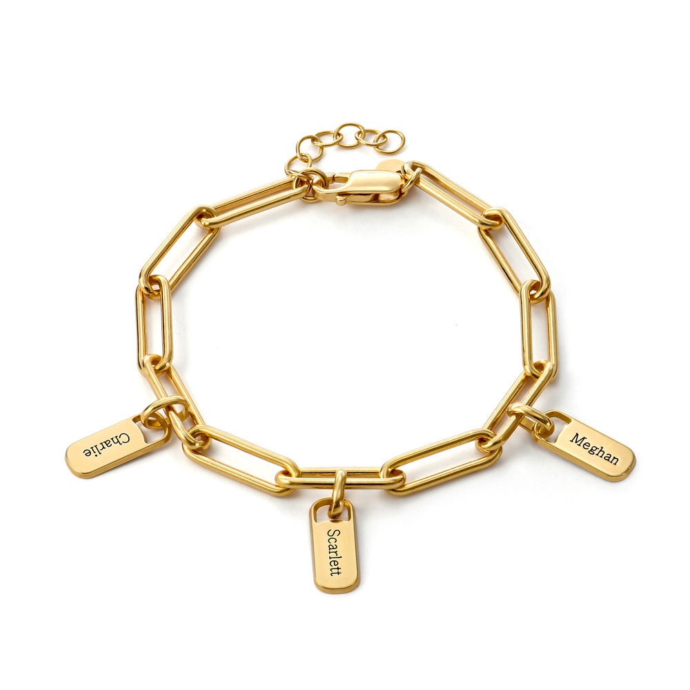 Rory Chain Link Bracelet with Custom charms in 18ct Gold Plating