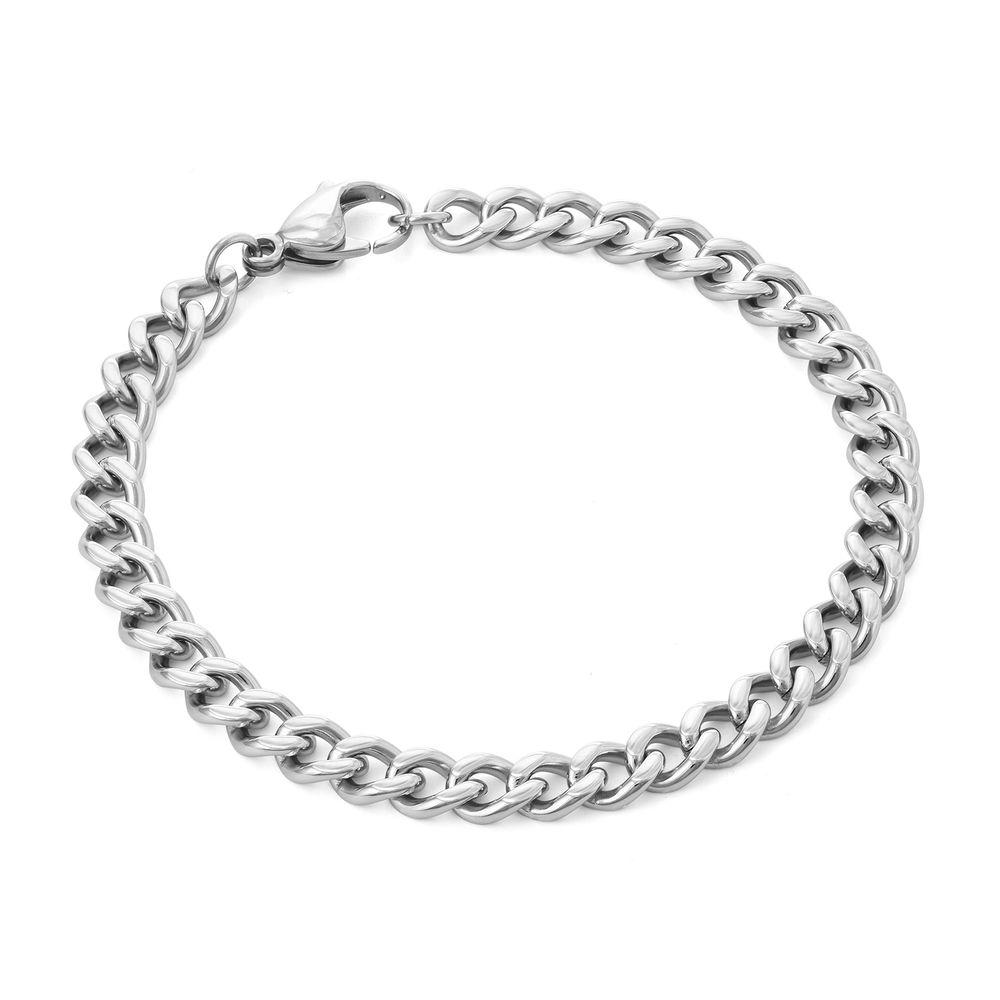 Men's Cuban Link Bracelet in Sterling Silver