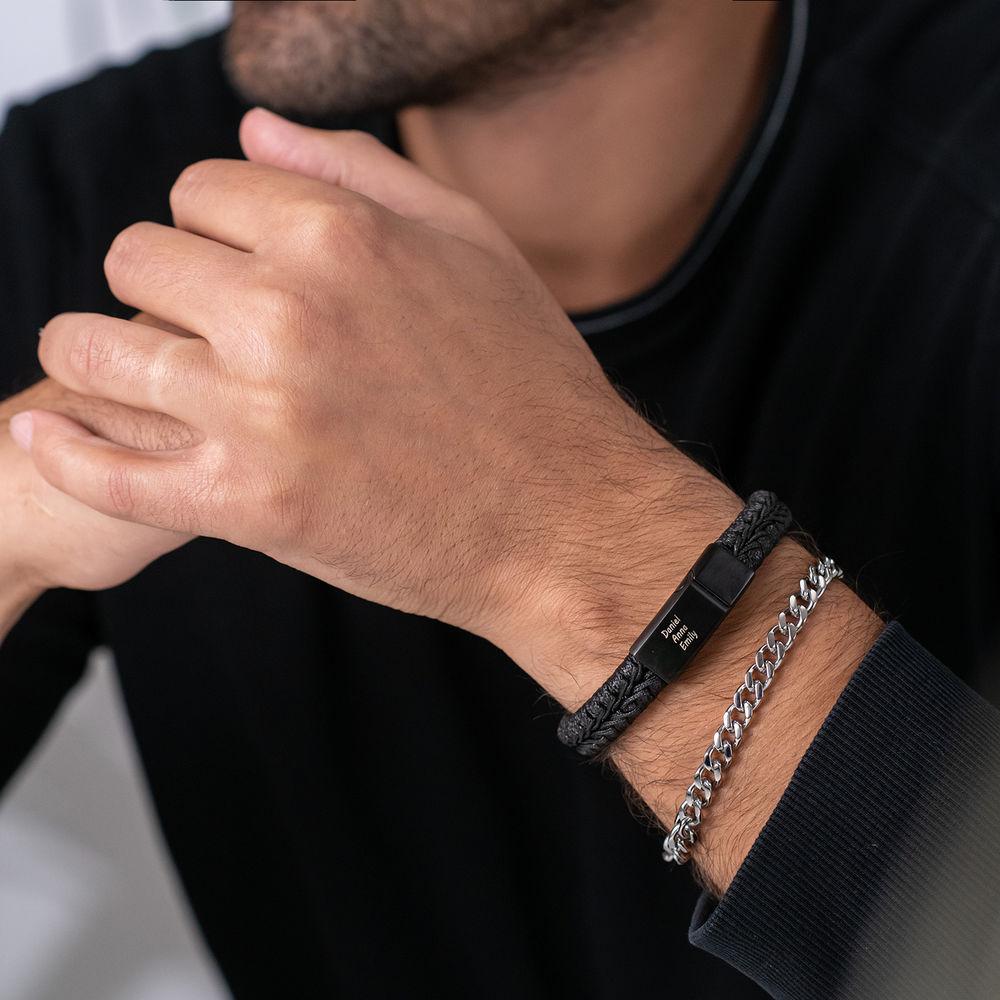 Men's Cuban Link Bracelet in Sterling Silver - 2